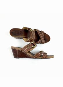 Frye Womens Lynn Harness Slipon Leather Sandals Slides Thick Straps Sz 8.5