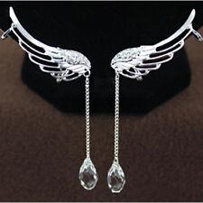 Neu Engelflügel Ohrringe Strass Kristall Engel Flügel Ohrhänger Ohrstecker