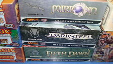 Magic the Gathering Mtg Empty Mirrodin Darksteel Fifth Dawn Booster boxes!