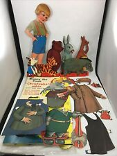 Winnie the Pooh Christopher Robin Large Cut-Out Paper Dolls Vintage 1980s