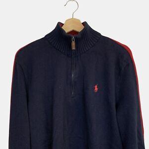 Vintage Polo Ralph Lauren embroidered logo quarter zip jumper sweater size L