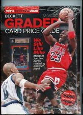 NEW CURRENT BECKETT GRADED CARD PRICE GUIDE (18th EDITION), 2020, MICHAEL JORDAN