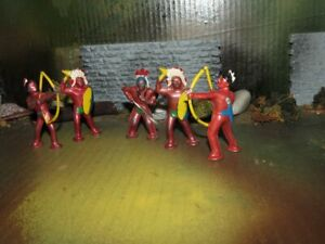 SUPER BARCLAY LEAD TOY PODFOOT INDIAN FIGURES LOT-1950
