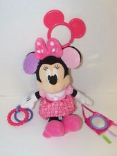 Disney Minnie Mouse plush chime rattle hanging crib stroller toy rings teether