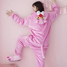 Unisex Pink Panther Nightwear Animal Kigurumi Pajamas Cosplay Costumes Jumpsuit