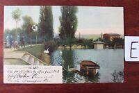 Postkarte Ansichtskarte Niedersachsen Lithografie  Sangerhausen am Dreiertisch