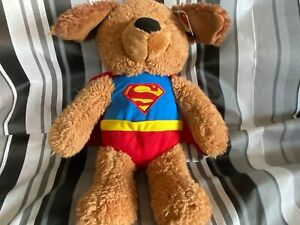 "Super Hero DC Comics Superman Griffin 14"" Puppy Dog Plush Stuffed Animal by Gund"