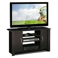 "Espresso Wood 50"" TV Stand Entertainment Center Organizer Living Room Furniture"