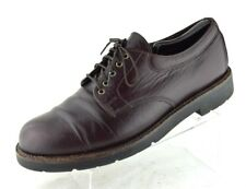 H.S. Trask Cordovan Burgundy Leather Lace Up Oxfords USA Shoes Men's 10.5 M