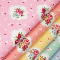 Cotton Fabric FQ Floral Polka Dot Spot Retro Print Dress Quilting Patchwork VK48