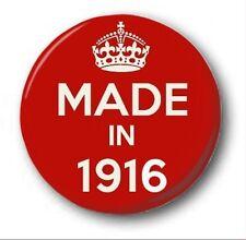 fabriqué en 1916 - 2.5cm/25mm Insigne de bouton - nouveauté mignon 102nd
