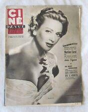 CINE-REVUE 16 octobre 1953 MARTINE CAROL FERNANDEL DANIEL GELIN MARILYN MONROE