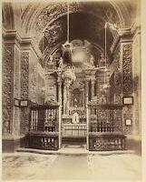 La Cappella San Giacca Palermo Italia Vintage Albumina Ca 1880