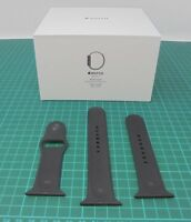 Genuine Official Apple Watch Sports Band 42mm Strap Black M/L & S/M - ref: AP005