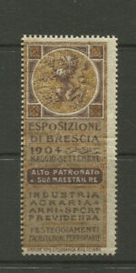 Italy/Brescia 1904 Exposition poster stamp/label