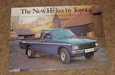 Toyota Hi-Lux Brochure 1979 - Hi Lux Pick Up