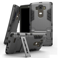 Hybrid Hard Armor Shockproof Stand Protective Case Cover for LG G4