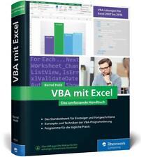VBA mit Excel von Bernd Held (2018, Gebundene Ausgabe)