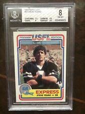 1984 Topps USFL Steve Young Rookie BGS 8