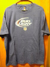 BUD LIGHT BEER ~ XL ~ OFFICIAL Supplier of the NFL ~ Football ~  T Shirt