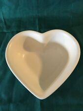 "PFALTZGRAFF tea rose pink flowers cream heart shaped casserole dish bowl 3X8"""