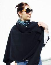 Damen Poncho, Cape, Schal XXL, Tunika, Umhang 100% Wolle, Farbe marine