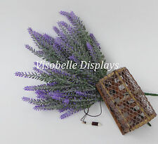 3 Artificial Heather Flowers Purple Wedding Bouquets & Scottish Thistle Themes