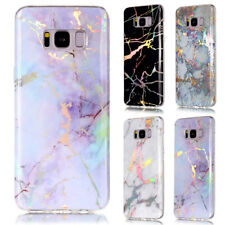 Ultra-Thin Plating Marble Soft Case Cover For Samsung Galaxy S8 S9 Plus S7 J3 A5