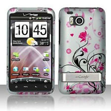 For HTC Thunderbolt 4G  Hard Rubberized Case Snap on Phone Cover Pink Vines