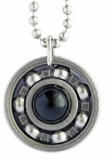Onyx Roller Derby Skate Bearing Pendant Necklace