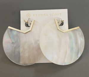 New Kendra Scott Kai Statement Earrings White Pearl $130.00