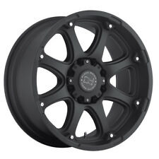 "17"" BLACK RHINO GLAMIS MATTE BLACK WHEELS RIMS 17x9 8x165 -12et"