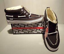 Vans Men's Black Canvas Boat Chukka del Barco Shoes SIZES! NIB Distressed