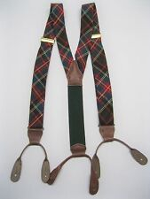 Ralph Lauren Polo Red-Blue-Green Plaid Suspenders Braces – Nice