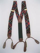 Ralph Lauren Polo Red-Blue-Green Plaid Suspenders Braces – Nice