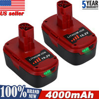 2X 4.0AH For Craftsman C3 19.2 Volt XCP High Capacity Lithium Ion Battery PP2030