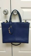 Emma Fox Blue Tote Bag Detachable Strap Emma Fox Blue Tote Purse