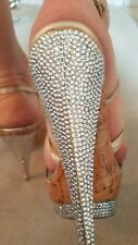 Ladies Daniel Designer Footwear heeled platform Shoe Gold size 4