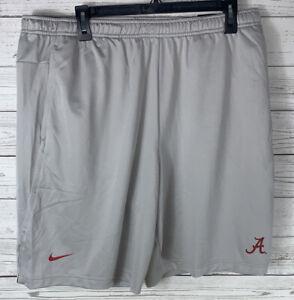 Mens Nike Alabama Crimson Tide  Dri Knit Shorts On Field Medium NEW $45