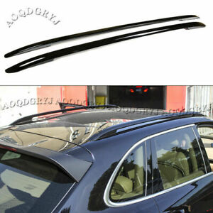 2x Fit For Porsche Cayenne 2011-2017 Shiny Black Roof Rails Baggage Luggage Rack
