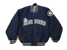 VINTAGE Seattle Mariners Diamond Collection STARTER Jacket Sz M Made In USA