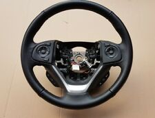 2017 HONDA Cr-V CRV Multifunctional 3 Spoke Black Leather Steering Wheel