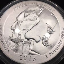 2013- P Mount Rushmore Atb National Park 5oz. .999 Silver Box & coa
