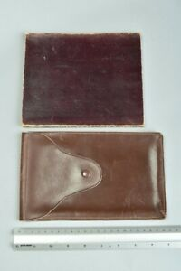Edwardian Morocco Leather Note Pad & Leather Document Case CSK