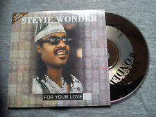 "STEVIE WONDER - ""FOR YOUR LOVE""/""MY CHERIE AMOUR"" 2 TRACKS CD SINGLE WITH LYRICS"
