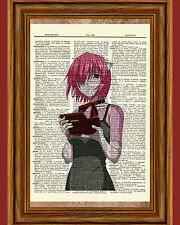 Elfen Lied Lucy Anime Dictionary Art Print Poster Picture Manga Book