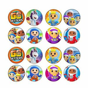 24x EDIBLE Go Jetters Cupcake Toppers Birthday Wafer Paper 4cm (uncut)