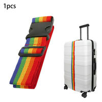 New Adjustable Travel Luggage Suitcase Strap Baggage Backpack Bag Rainbow Belt