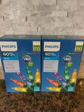 Philips 60 Faceted Mini MULTI COLOR LED String Lights Christmas Easter Lot of 2
