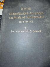 19112 Hellmuth System des deutschen Post Telegraphenund FernsprechVerkehrsrechts